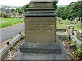 SJ9995 : Lawrence Earnshaw memorial: side 2 by Gerald England