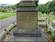 SJ9995 : Lawrence Earnshaw memorial: side 2 by Gerald England