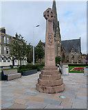 NS2982 : Colquhoun Square Celtic Cross by David Dixon
