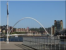 NZ2563 : The Millennium Bridge and The Baltic by Mike Quinn
