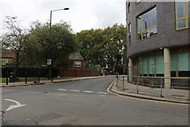 TQ3581 : White Horse Lane at the junction of Ben Jonson Road by David Howard