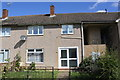 SP8688 : Pebbledashed house beside Westbury Walk by Luke Shaw