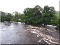 SD9767 : A swollen river Wharfe at Conistone by Stephen Craven