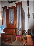 TL8530 : St Andrew, Colne Engaine: organ by Basher Eyre