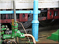 NZ2563 : The Swing Bridge - engine room (detail) (5) by Mike Quinn