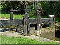 SJ9688 : Lock gear at Marple Locks No 11, Stockport by Roger  Kidd