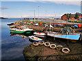 NS0235 : Small Fishing Boats at Brodick by David Dixon