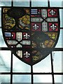 TL7835 : St Nicholas, Castle Hedingham: stained glass window (d) by Basher Eyre