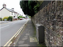 ST3090 : Telecoms cabinet alongside a stone wall, Pillmawr Road, Malpas, Newport by Jaggery