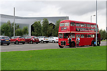 NS5566 : Routemaster outside Glasgow Riverside Museum by David Dixon