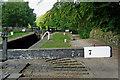 SJ9689 : Balance beam at Marple Locks No 7, Stockport by Roger  Kidd