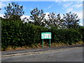 SN4324 : Abergwili Community Council noticeboard in Peniel, Carmarthenshire by Jaggery