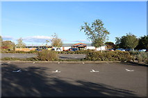 NX9575 : Car Park at Garden Wise, Dumfries by Billy McCrorie