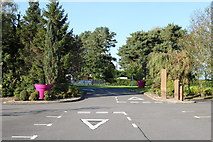 NX9575 : Exit Road from Garden Wise Dumfries by Billy McCrorie