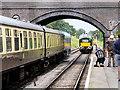 SP0532 : GWSR, Bridge at the end of Toddington Station by David Dixon