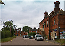 TL8928 : The old Railway Tavern and station buildings at Chappel & Wakes Colne by Roger A Smith