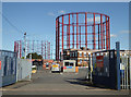 SP0888 : Condemned men - three gas holders at Windsor Street by Chris Allen