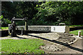 SJ9689 : Balance beam at Marple Locks No 3, Stockport by Roger  Kidd