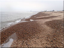 TG5307 : Looking south on Great Yarmouth beach by Eirian Evans