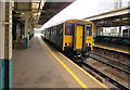 ST1876 : City Line train in Cardiff Queen Street station by Jaggery