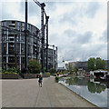 TQ2983 : King's Cross: photographing Gasholder Park by John Sutton