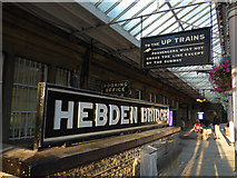 SD9926 : Signs at Hebden Bridge railway station by Stephen Craven
