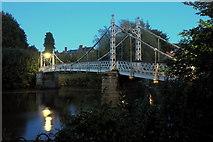 SO5139 : Night shot of Victoria Bridge by Jonathan Billinger