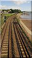SX9372 : Railway line entering Teignmouth by Derek Harper