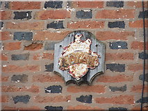SK5815 : 'Royal' Fire Insurance Company mark, Mountsorrel by Richard Law