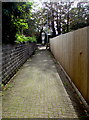 ST1580 : Path to Whitchurch (Cardiff) railway station by Jaggery