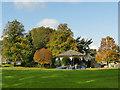 SE1038 : Bandstand in Myrtle Park, Bingley by Stephen Craven
