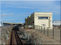 TQ3303 : Leaving Black Rock station, Brighton by Ruth Sharville