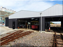 TQ3203 : Train sheds, Volks Electric Railway, Brighton by Ruth Sharville
