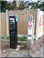TL9033 : Bures Railway Station car park pay machine by Geographer
