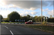 TQ7170 : Roundabout on Gravesend Road, Gadshill by David Howard