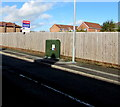 SJ2963 : Dark green cabinet on the north side of Chester Road, Buckley by Jaggery
