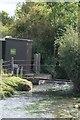SK9570 : North brook gauging station by Bob Harvey