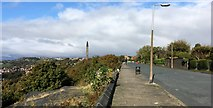 SE0724 : Albert Promenade and the Wainhouse Tower, Halifax by Peter Evans