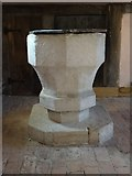SO4465 : Font in St Michael & All Angels' church  by Philip Halling