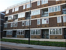 TQ3684 : Flats on Wick Road, Hackney Wick by David Howard