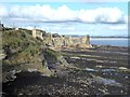 NO5116 : St Andrews Castle and rocky foreshore by Oliver Dixon