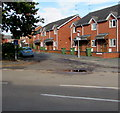 SO5058 : Wheelie bins and brick houses, Pinsley Road, Leominster by Jaggery