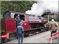 SD3484 : Steam Engine Victor at Haverthwaite Station by Jennifer Petrie