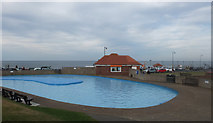 NZ8911 : West Cliff paddling pool, Whitby by habiloid