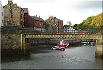 NZ7818 : Bridge over Roxby Beck, Staithes by habiloid