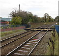 SJ2963 : Level crossing at the northern end of Buckley station by Jaggery