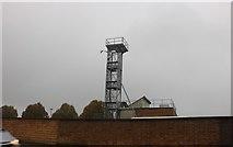 SU1584 : Fire station tower on Fleming Way, Swindon by David Howard