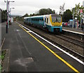 SO4383 : Southbound train arriving at Craven Arms station by Jaggery