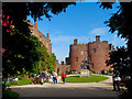 SJ2106 : The entrance to the courtyard at Powis Castle by Robin Drayton