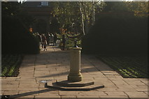 TQ2479 : View of a sundial in the middle of the garden of Holland House by Robert Lamb
